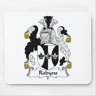 Escudo de la familia de Robyns Alfombrillas De Raton