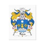 Escudo de la familia de Roca Impresión En Lona