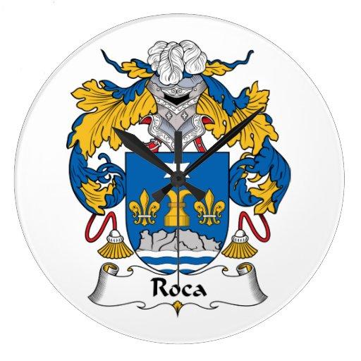 Escudo de la familia de Roca Relojes De Pared