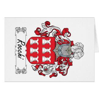 Escudo de la familia de Rocchi Tarjeta De Felicitación