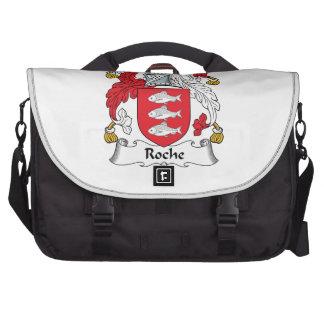 Escudo de la familia de Roche Bolsas De Portátil
