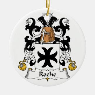 Escudo de la familia de Roche Ornamento Para Arbol De Navidad