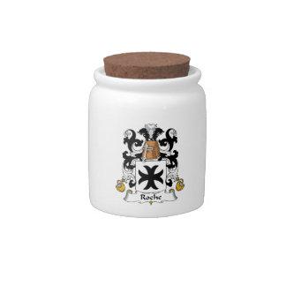 Escudo de la familia de Roche Platos Para Caramelos