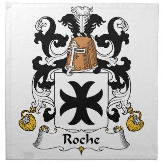 Escudo de la familia de Roche Servilleta Imprimida