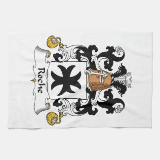 Escudo de la familia de Roche Toallas De Cocina
