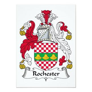 """Escudo de la familia de Rochester Invitación 5"""" X 7"""""""
