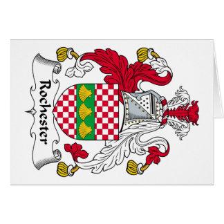 Escudo de la familia de Rochester Tarjeta De Felicitación