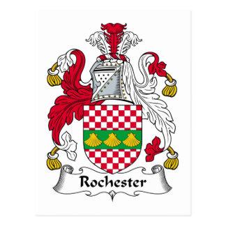 Escudo de la familia de Rochester Tarjeta Postal