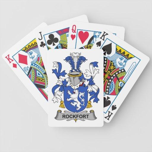 Escudo de la familia de Rockfort Baraja Cartas De Poker