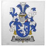 Escudo de la familia de Rockfort Servilletas Imprimidas