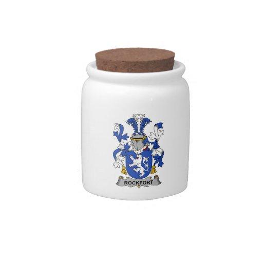 Escudo de la familia de Rockfort Tarro De Cerámica Para Dulces