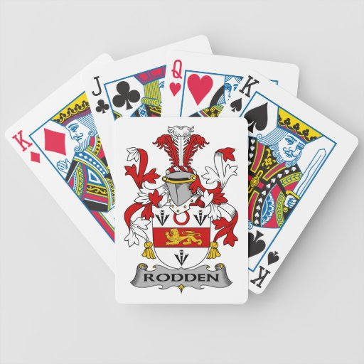 Escudo de la familia de Rodden Baraja Cartas De Poker