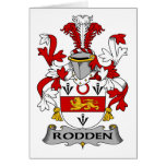 Escudo de la familia de Rodden Felicitaciones