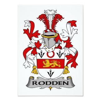 """Escudo de la familia de Rodden Invitación 5"""" X 7"""""""