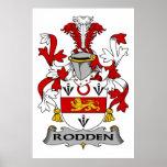 Escudo de la familia de Rodden Poster