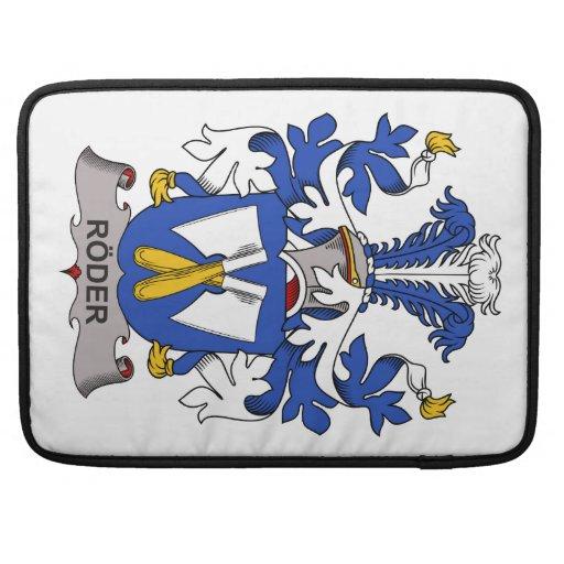 Escudo de la familia de Roder Fundas Para Macbook Pro