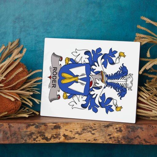 Escudo de la familia de Roder Placas Con Fotos