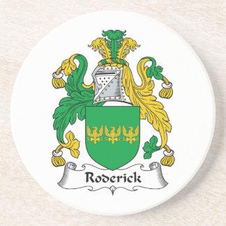 Escudo de la familia de Roderick Posavasos Cerveza