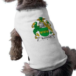 Escudo de la familia de Roderick Camisetas De Perrito