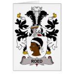 Escudo de la familia de Roed Felicitación