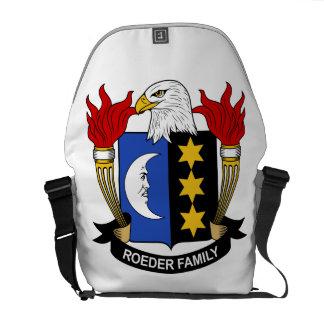 Escudo de la familia de Roeder Bolsa De Mensajería