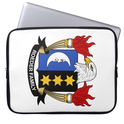 Escudo de la familia de Roeder Funda Ordendadores