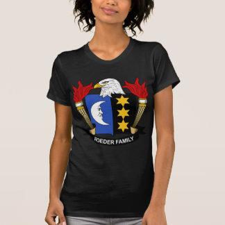 Escudo de la familia de Roeder Tee Shirt