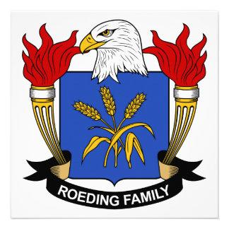 Escudo de la familia de Roeding Anuncio Personalizado