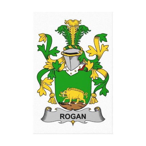 Escudo de la familia de Rogan Impresión De Lienzo
