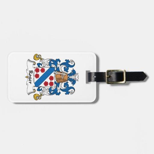 Escudo de la familia de Rogelio Etiquetas Bolsa