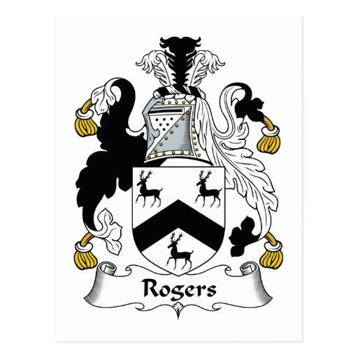 Escudo de la familia de Rogers Postales