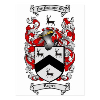 Escudo de la familia de ROGERS Tarjetas Postales