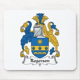 Escudo de la familia de Rogerson Alfombrillas De Ratones