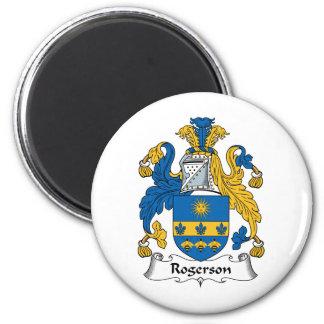 Escudo de la familia de Rogerson Imán Redondo 5 Cm