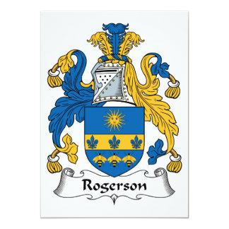 """Escudo de la familia de Rogerson Invitación 5"""" X 7"""""""