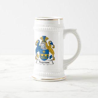 Escudo de la familia de Rogerson Jarra De Cerveza