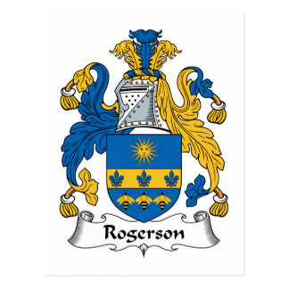 Escudo de la familia de Rogerson Postal