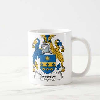 Escudo de la familia de Rogerson Taza De Café