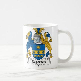 Escudo de la familia de Rogerson Tazas De Café