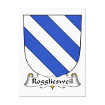 Escudo de la familia de Roggliesweil Impresion De Lienzo