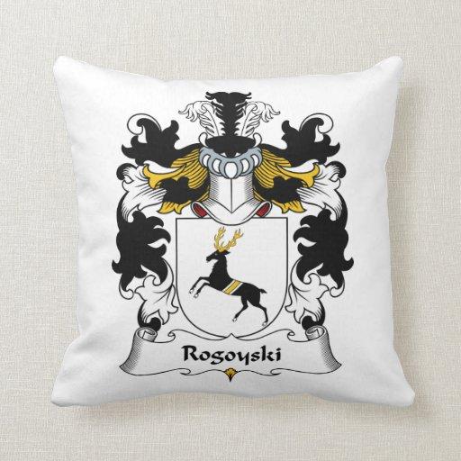 Escudo de la familia de Rogoyski Almohadas