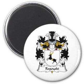 Escudo de la familia de Rogoyski Imán Redondo 5 Cm