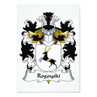 """Escudo de la familia de Rogoyski Invitación 5"""" X 7"""""""