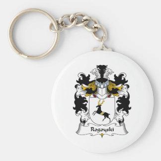 Escudo de la familia de Rogoyski Llavero Redondo Tipo Pin