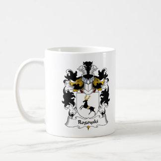 Escudo de la familia de Rogoyski Taza Básica Blanca