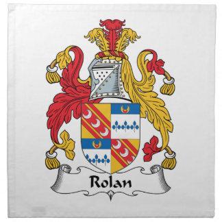 Escudo de la familia de Rolan Servilletas