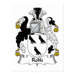 Escudo de la familia de Rolfe Tarjetas Postales