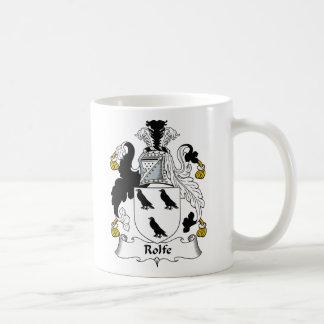 Escudo de la familia de Rolfe Tazas De Café
