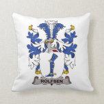 Escudo de la familia de Rolfsen Almohada