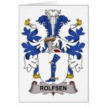 Escudo de la familia de Rolfsen Felicitacion